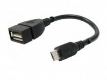 Cablu adaptor USB A mama - micro USB tata, 15cm - 129675