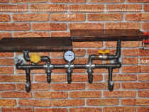 Cuier suport lemn steampunkdesigncj, steampunk, mobila hol