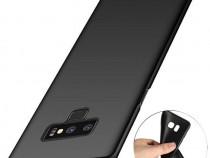 Samsung Note 9 - Pachet Husa Silicon Clara/Neagra + Folie St