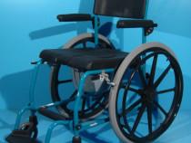 Scaun WC de camera cu rotile din aluminiu Ortopedia