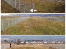 Executăm Gard stalpi de beton cu plasa metalica impletita