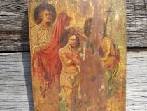 Icoana pe lemn Botezul Domnului