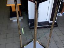 Raft de lux expunere produse inox si sticla