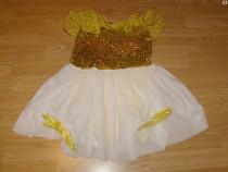 Costum carnaval serbare rochie dans margareta adulti L