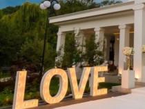 Cuvant Love, Litere luminoase pe comanda Love, 50 cm