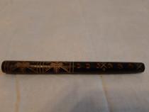 Fluier din lemn scluptat 18 cm.