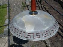 Lustra, 1 bec, sticla Murano, alb-alabastru, ø: 40, I: 65 cm