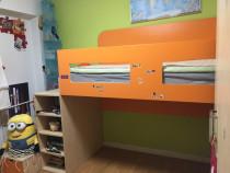 Mobilier camera copilului pat suprainaltat