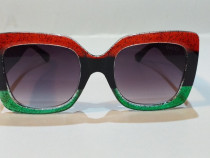 Gucci tri - colour oversized glittered gradient square italy