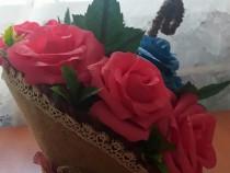 Aranjament floral in umbrela (hand made)
