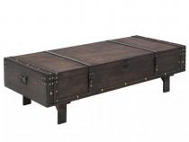 Măsuță de cafea din lemn masiv, stil vintage,120 x 55 x 35cm