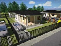 Casa individuala cu o compartimentare practica, imbrejmuita