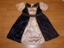 Costum carnaval serbare rochie medievala regina 2-3-4 ani