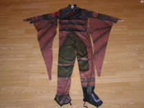 Costum carnaval serbare liliac dragon zmeu 8-9 ani