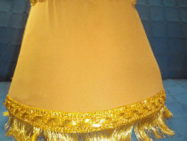 Abajur handmade cu franjuri aurii