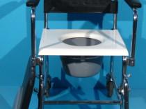 Scaun cu rotile cu vas WC (toaleta)