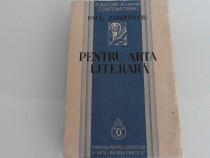 Carte veche paul zarifopol pentru arta literara