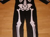 Costum carnaval serbare schelet pentru adulti marime L-XL