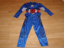 Costum carnaval serbare captain american 5-6 ani