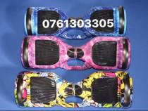 Hoverboard Blue Camuflaj 1000w Model NOU Bluetooth-Husa-LED