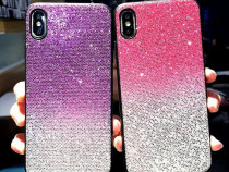 Husa silicon Gradient cu sclipici pt iPhone XS Max