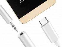 Convertor cablu adaptor Type C la mufa jack audio 3.5mm