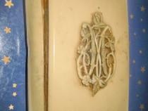 B03-Salutari Mariei 1898 carte mica catolica monograma M.