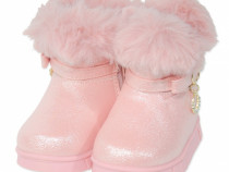 Cizme imblanite bebe   Cizme roz pudra fete   UGG copii roz