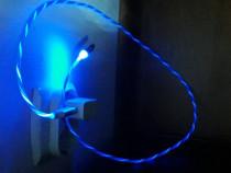 Cablu USB 3.0 cu Mufa Samsung Magnetic cu Lumini LED