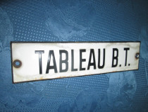 4331-I- TABLEAU B.T. Reclama veche pe tabla emailata.