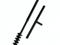 141023 Burghiu manual cu mâner 80 mm cu spirală dublă 141023