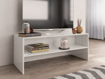 Comodă TV, alb lucios, 100 x 40 x 40 cm, PAL 800051