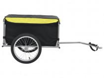Remorcă de bicicletă, negru și galben 91684