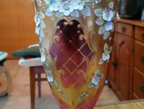 Vaza rara de cristal de Bohemia Egermann