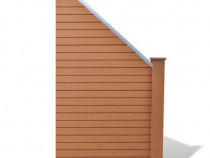 Set gard WPC 1 buc. pătrată+1 înclinată 275741