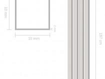 Canale din aluminiu cu profil în U, 4 buc 143154