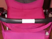 Cărucior Germany roz-grafit 3in 1