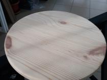 Blat masa 43 mm grosime, 450 mm diametru din lemn masiv de p