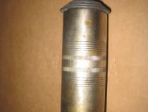 116A-Pompita decorativa veche din alama cromata interbelica.