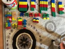 Cuburi din lemn pentru copii 137 bucăți