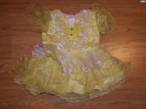 Costum de carnaval serbare rochie printesa 3-6 luni