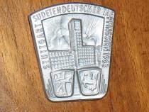 """Insignă """"Ziua germanilor sudeți - Stuttgart 1963"""""""