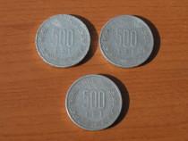 3 monede 500 lei 1999, 2000