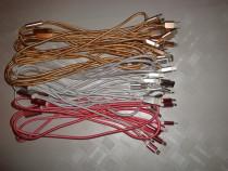 Cablu incarcator telefon USB 3in1 micro USB tip C si iphone