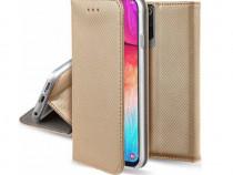 Husa Telefon Flip Book Samsung Galaxy S20+ g985 Fashion Gold