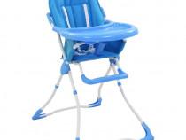 Scaun de masă înalt pentru copii, albastru 10184