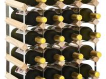 Suport sticle de vin pentru 20 sticle, lemn 282469