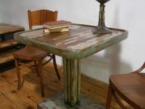 Masa veche din lemn de fag Thonet