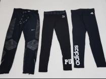 Pantaloni alergare, colanți, leggings Nike, Adidas, Puma