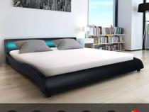 Cadru de pat cu LED, negru, 180 x 200 cm 244325